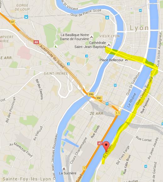 stationnement Lyon par rapport au vieux Lyon
