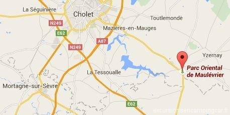 Localisation du Parc Oriental de Maulévrier