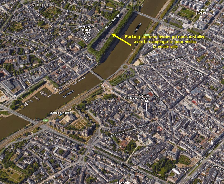 Parking pres du vieux centre ville d'Angers