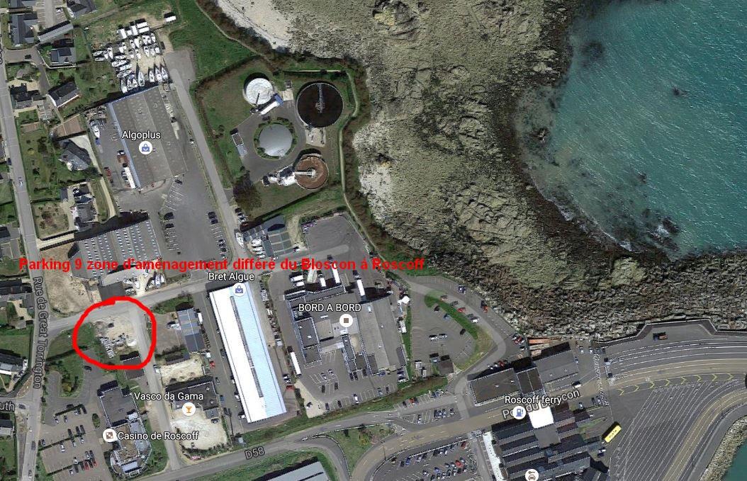 Parking 9 zone d'aménagement différé du Bloscon à Roscoff