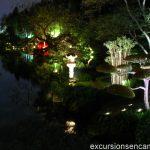 Le Parc Oriental de Maulévrier de nuit